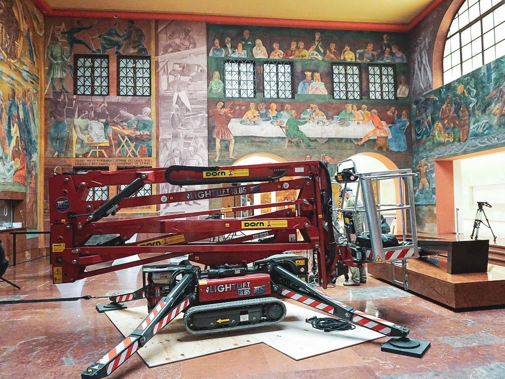 Wartungsarbeiten im Haus für Mozart