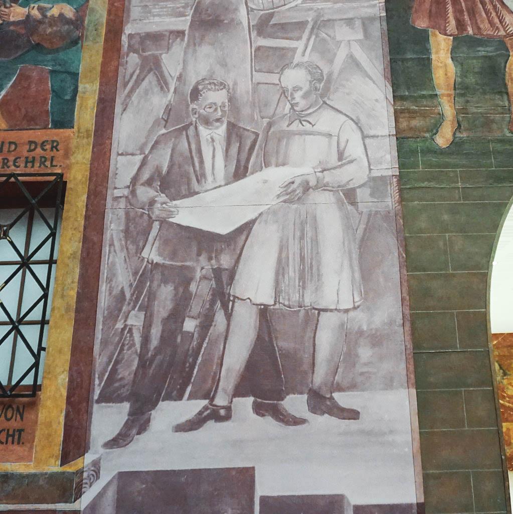 Wandmalerei Haus für Mozart