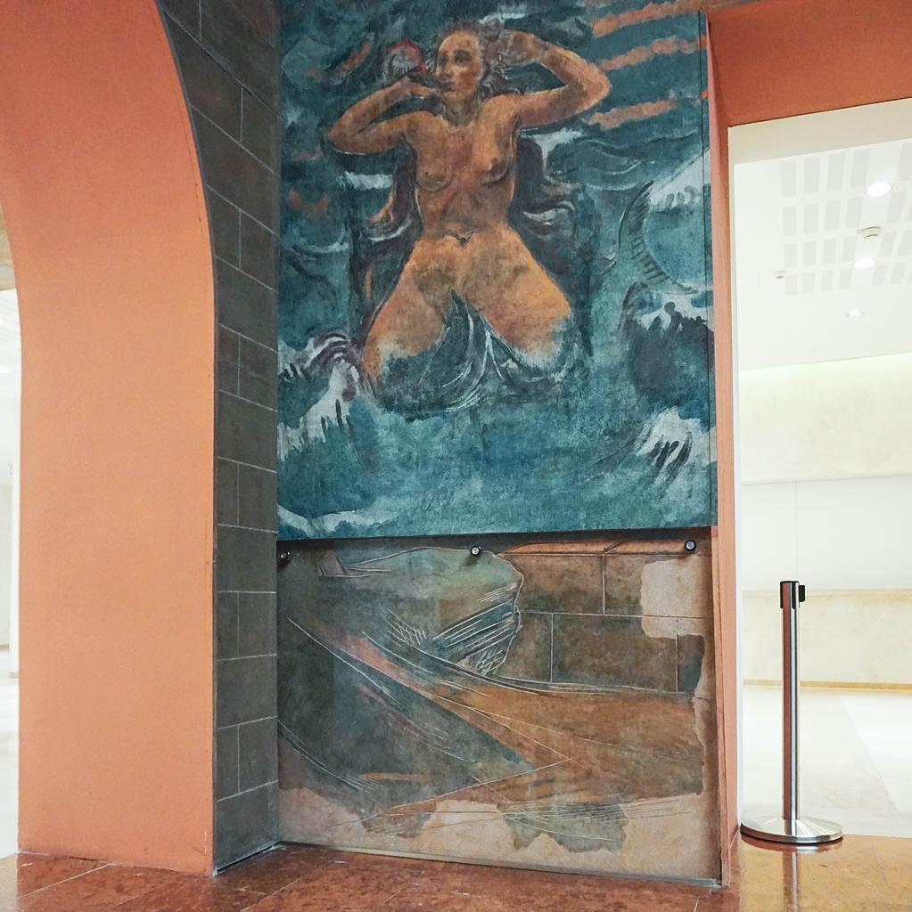 Original Fresko von Faistauer