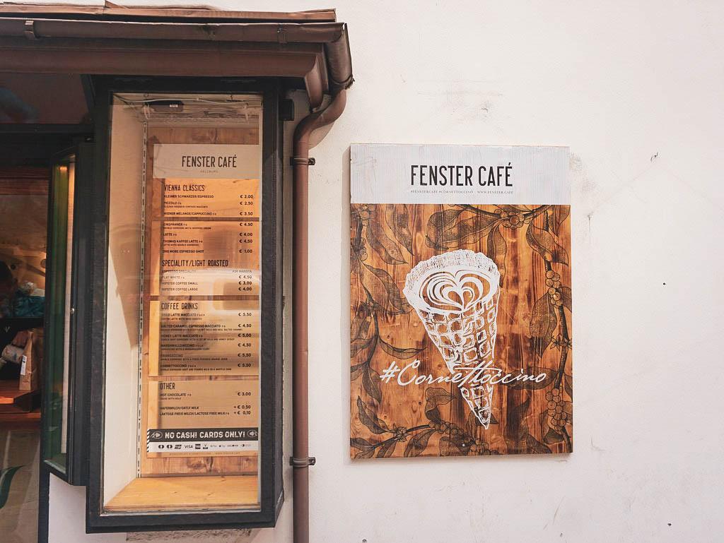 Auslage Fenster Café Salzburg