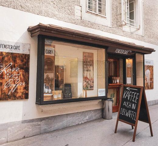 Fenster Café in der  Bürgerspitalgasse, Coffee to go vom Feinsten