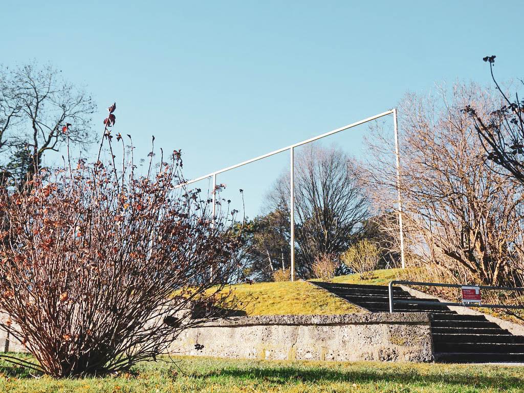 Goldener Rahmen am Rosenhügel